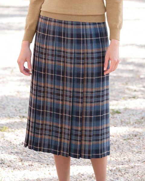 Keswick Pure Wool Checked Skirt